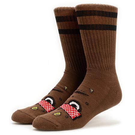 toy machine poo poo head brown crew socks at zumiez pdp
