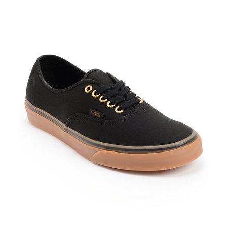 Vans Authentic Black Amp Gum Shoes At Zumiez Pdp