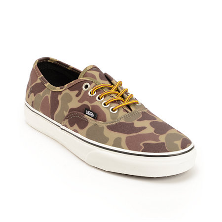 Vans Authentic Camo Waxed Canvas Shoes