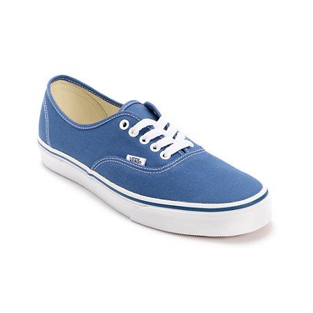 Vans Authentic Navy Canvas Shoes At Zumiez Pdp