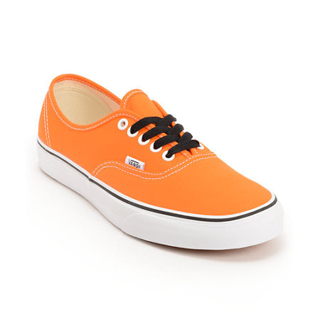 vans shoes orange