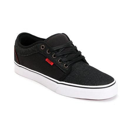 Vans Chukka Low Black Denim Red Skate Shoe