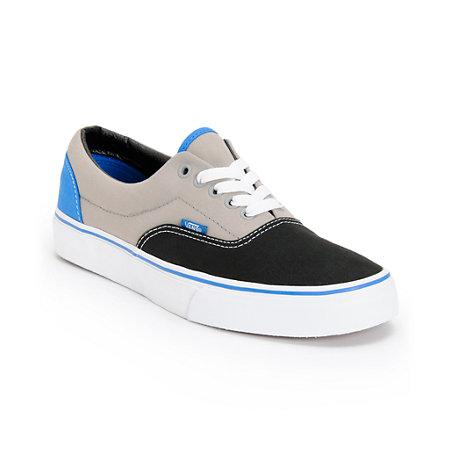 Vans Era Tri-Tone Black, Grey, & Blue Skate Shoes at Zumiez : PDP