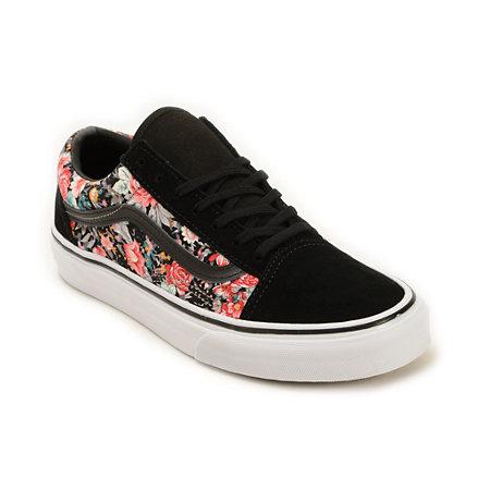 Vans Old Skool Floral Shoes At Zumiez Pdp
