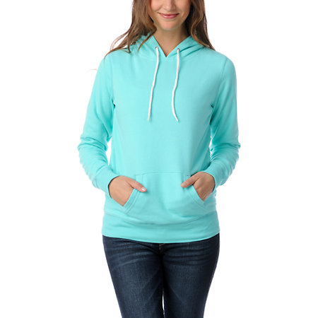 Mint Green Pullover Hoodie Zine-ceramic-teal-pullover