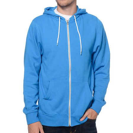 zine hooligan coast blue zip up hoodie at zumiez pdp