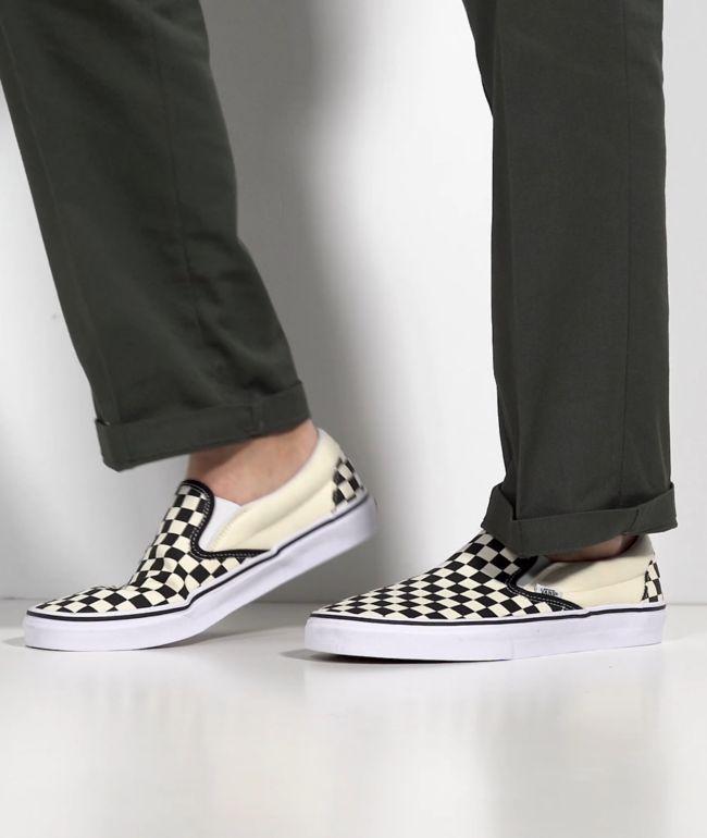 71d179baebb54 Vans Slip-On Black & White Checkered Skate Shoes | Zumiez