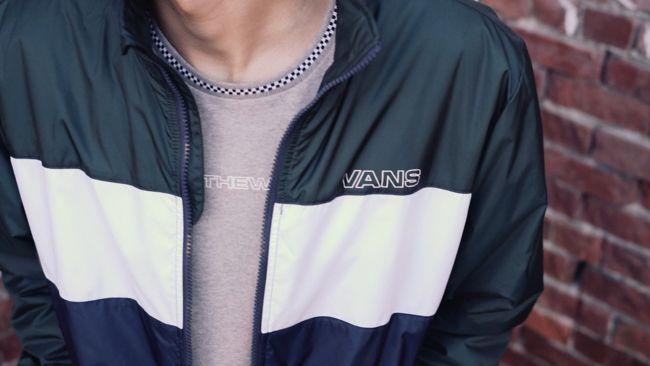 6251c436514 Vans Starboard Blue   Green Zip Jacket