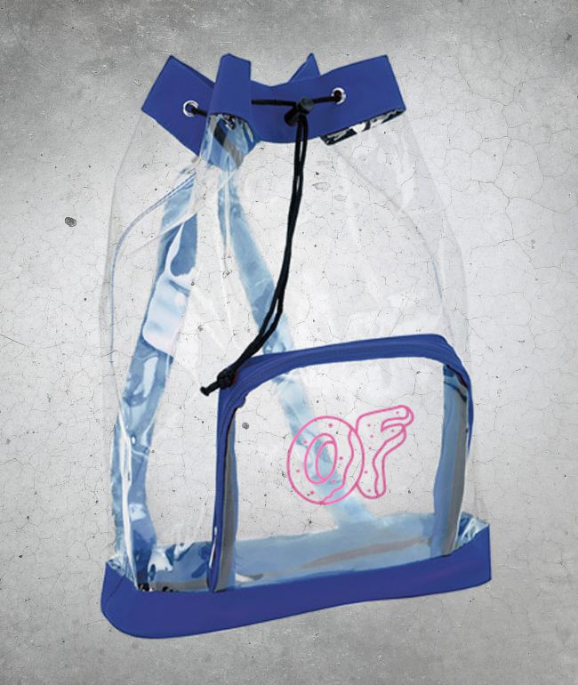 Odd Future Clear Blue Drawstring Backpack