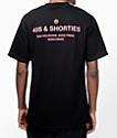 40s & Shorties General camiseta en negro y rosa