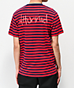 4Hunnid Red & Blue Striped T-Shirt