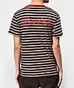 4Hunnid camiseta caqui y negra de rayas