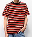 4Hunnid camiseta de rayas rojas y negras