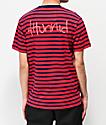 4Hunnid camiseta roja y azul de rayas
