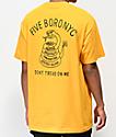 5Boro Don't Tread camiseta dorada y negra