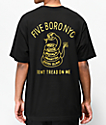 5Boro Don't Tread camiseta negra y dorada