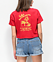 A-Lab Ballina Sally Succulents camiseta corta roja