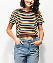 A-Lab Ballina camiseta corta de rayas multicolores