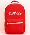 A-Lab Barbara mochila roja con corazón tribal