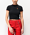 A-Lab Curly Rose camiseta corta negra
