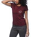 A-Lab Kito Alien camiseta con bolsillo en color vino