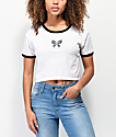 A-Lab Ringer Butterfly camiseta corta blanca