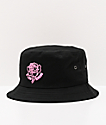 A Lost Cause Neon Rose Black Bucket Hat