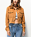 Almost Famous Mustard Corduroy Crop Jacket