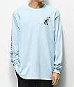 Almost x Dr. Seuss Cat Pusher camiseta de manga larga azul claro