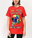 Artist Collective Color Skull camiseta roja