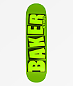 "Baker Reynolds Brand Name 8.12"" tabla de skate verde"