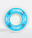 Bones 100 Ringers 52mm ruedas de skate azules y blancas