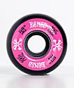 Bones 100 Ringers 53mm Pink & Black Skateboard Wheels