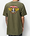 Bones Powell Peralta Winged Ripper camiseta verde militar