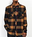 Brixton Bowery Black & Gold Flannel Shirt