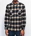 Brixton Bowery camisa de franela negra y crema