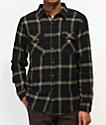 Brixton Bowery camisa de franela negra y marrón