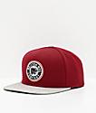 Brixton Forte Burgundy & White Snapback Hat