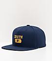 Brixton Forte VI Navy Snapback Hat