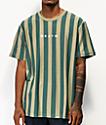 Brixton Hilt Camiseta de punto verde de rayas