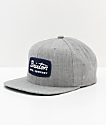 Brixton Jolt gorra gris con parche