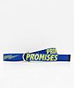 Broken Promises Bolted cinturón tejido azul