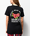 Broken Promises Forever Means Nothing Roses camiseta negra