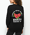 Broken Promises Forever Means Nothing camiseta negra de manga larga