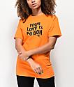 Broken Promises Poison Rose camiseta naranja
