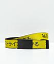 Buckle Down Kanji cinturón tejido amarillo y negro