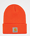 Carhartt Watch gorro en color naranja