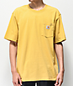Carhartt Workwear camiseta amarilla con bolsillo
