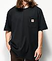 Carhartt Workwear camiseta negra con bolsillo