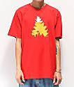 Casual Industrees Johnny Tree Beer camiseta roja